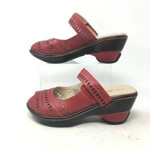 Jambu Touring Too Clog Wedge Sandal Peep Toe Laser